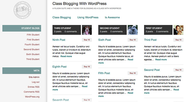Classblogs - plugin wordpress para profesores