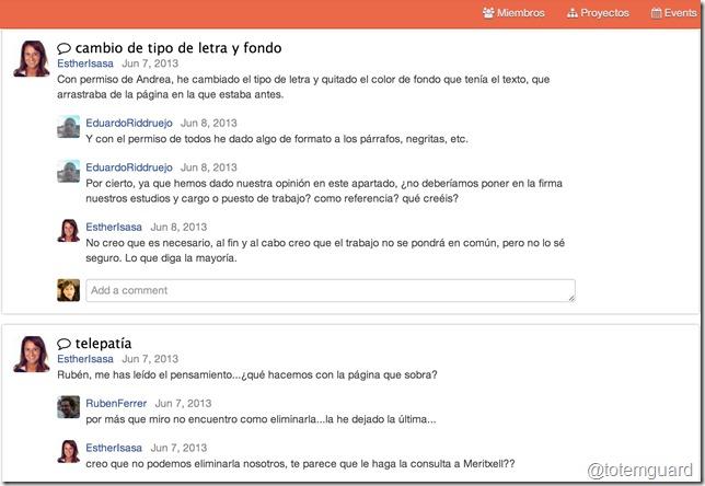 wikispaces hilo de discusión