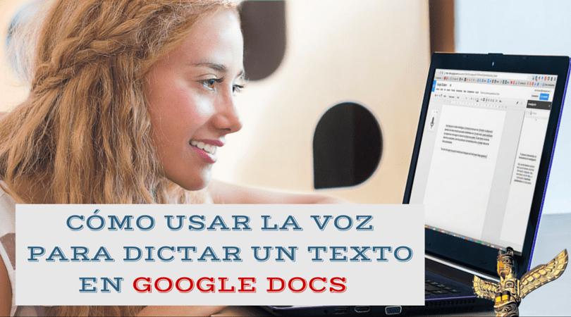 Escribir por voz google docs