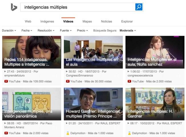 bing búsqueda vídeos