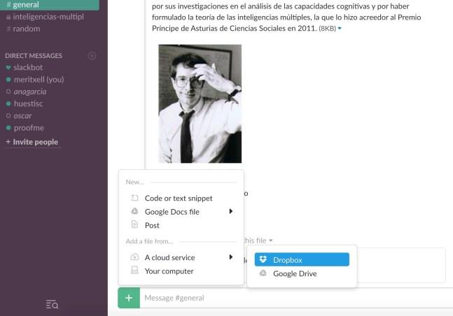 Slack_integrar_dropbox_google_drive