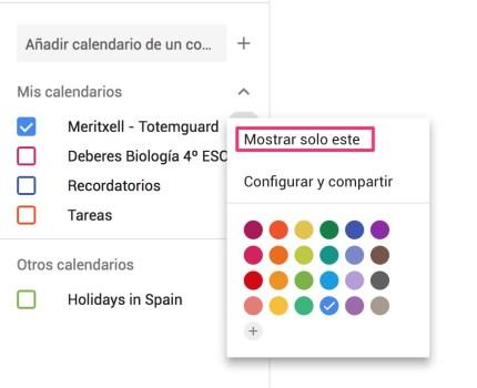 Mostrar-solo-este-calendario-google