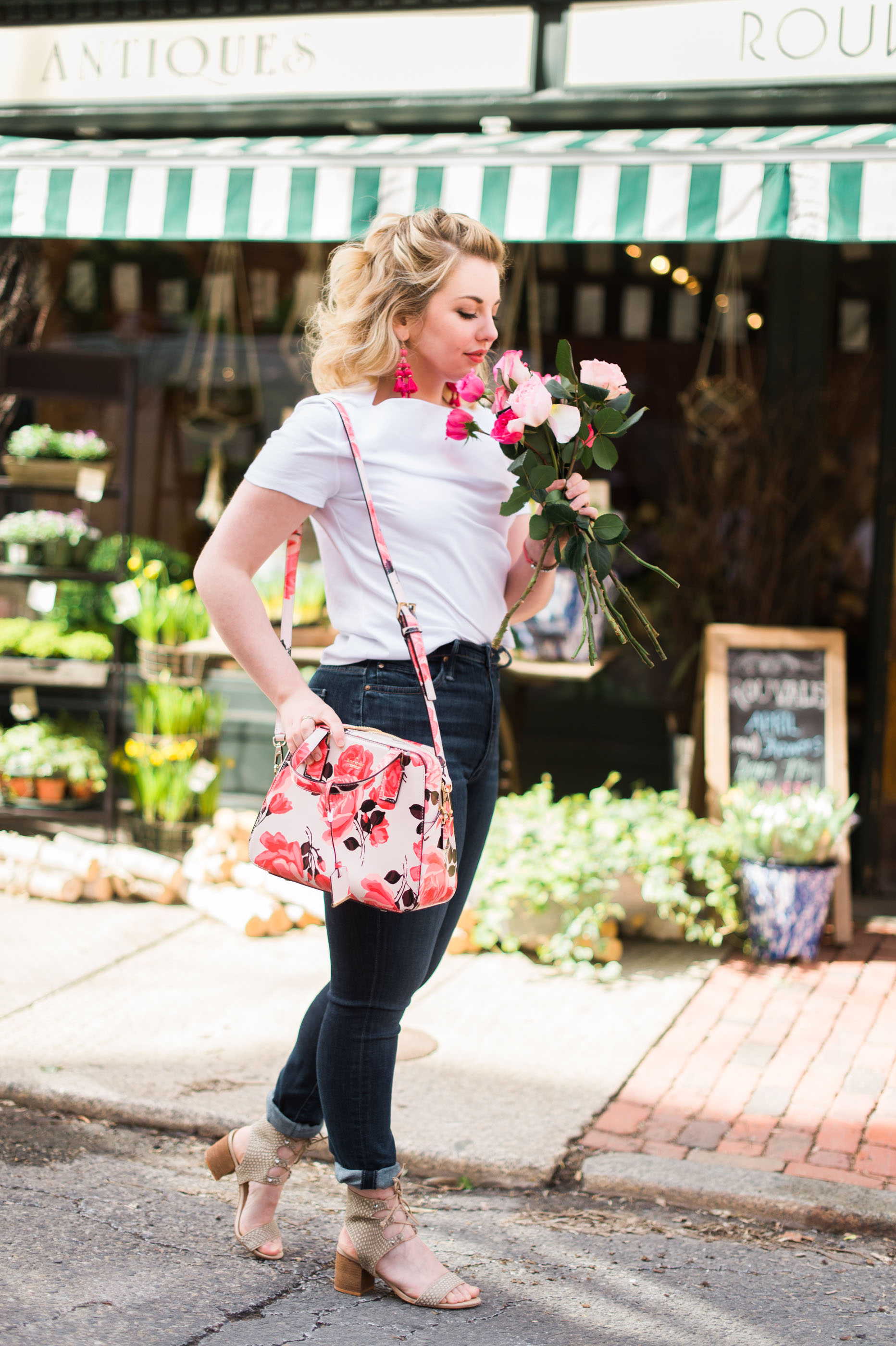 A Rose Print Purse | To The 9s: Navigating Fashion & Style