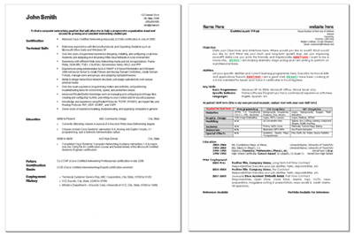 free resume amp cv templates in ms word format