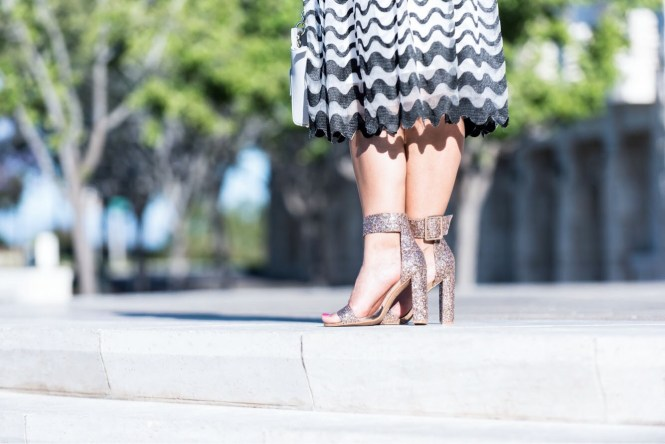 Glitter Chunky Shoes from My Shoe Bazar featured on To Thine Own Style Be True