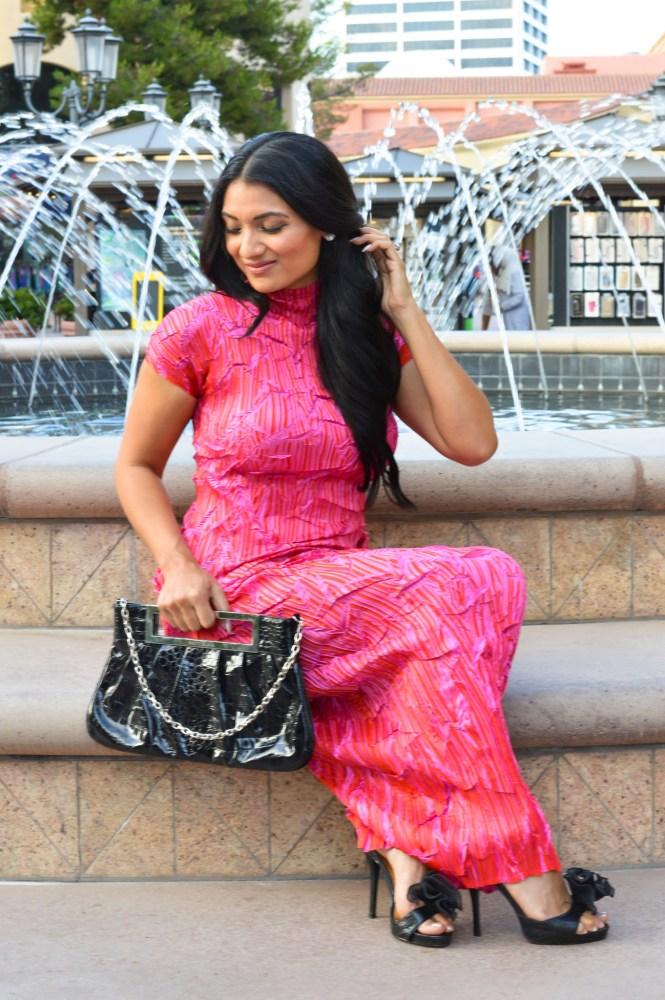 Debbie Savage of To Thine Own Style Be True Wearing a Masaki Matsuka Dress