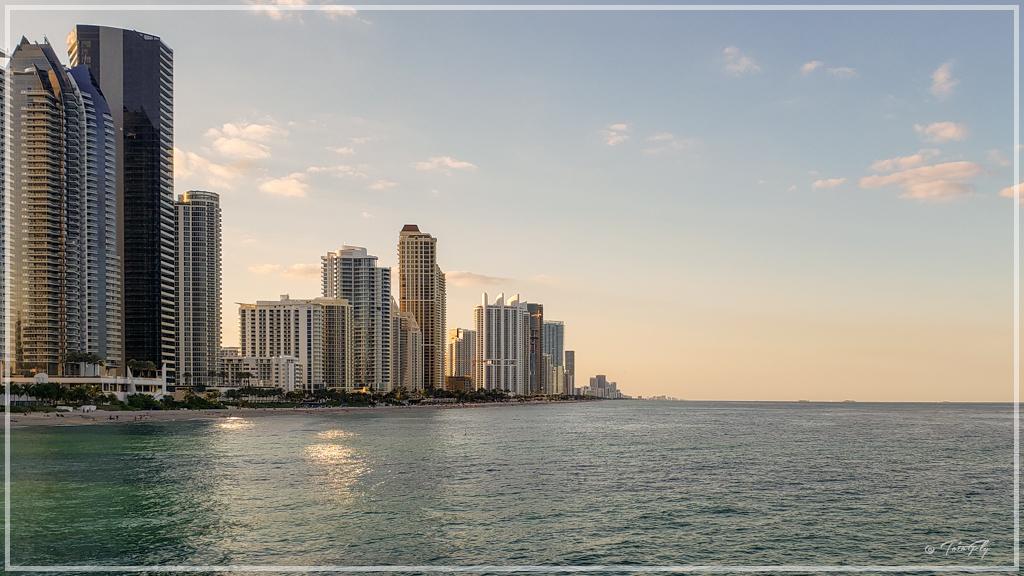 Foto desde el muelle de pesca de Miami