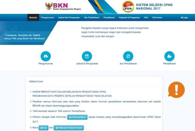 Pengumuman Daftar Peserta Lulus Hasil Seleksi Administrasi CPNS Maluku 2018