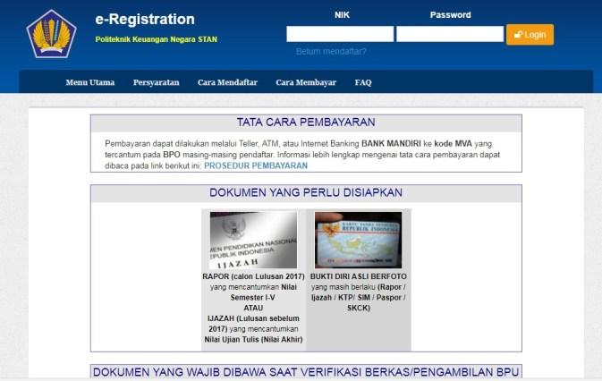 Pengumuman Hasil Kelulusan Seleksi Masuk PMB STAN 2018, Pendaftaran mahasiswa baru STAN.