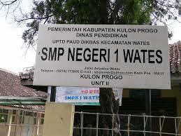 Daftar SMP MTS Negeri Swasta Terbaik Favorit Unggulan Kabupaten Kulonprogo YOGYAKARTA JOGJA.