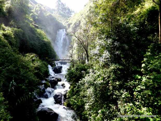 Peguche Waterfall outside Otavalo