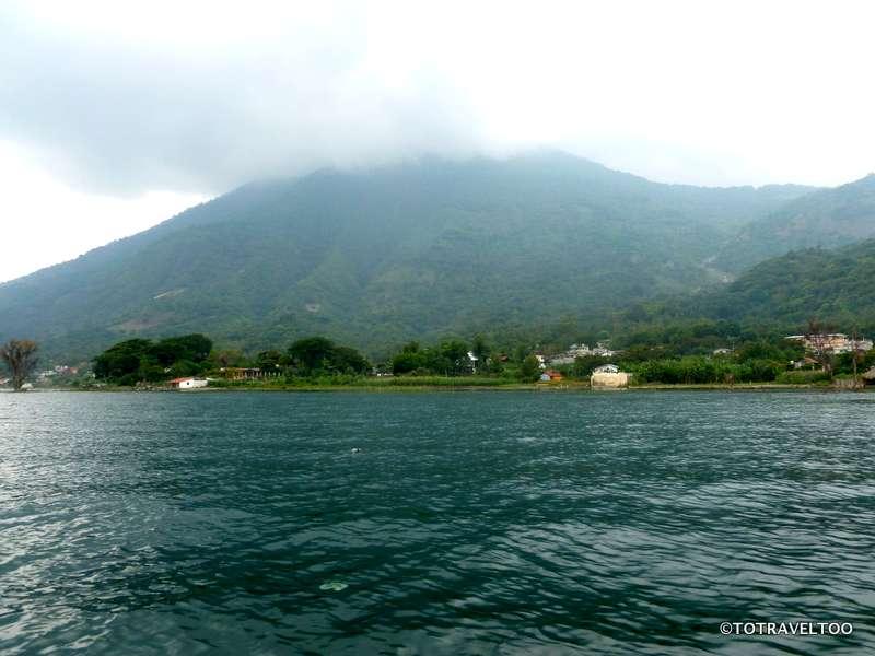 On our way to Santiago on Lake Atitlan