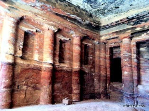 Inside the Soldier Tomb in Petra