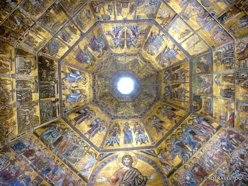 The Ceiling Inside the Baptistery in the Piazza del Duomo