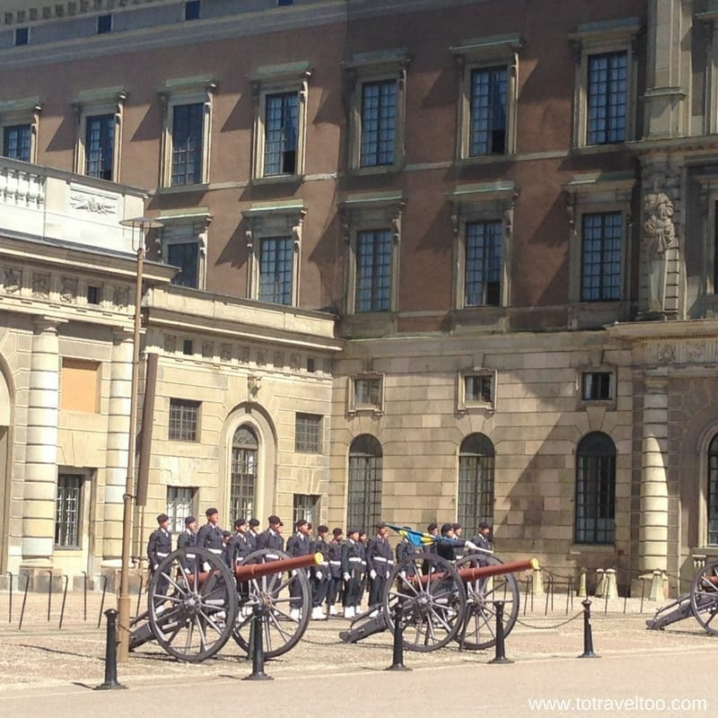 When you Visit Stockholm you must visit the changing of the guards