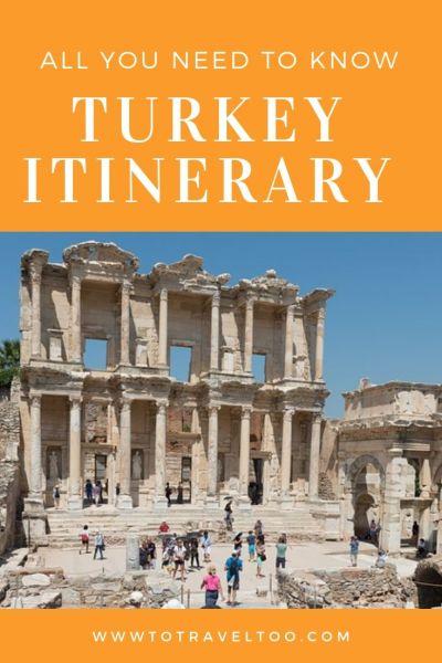 Turkey Itinerary