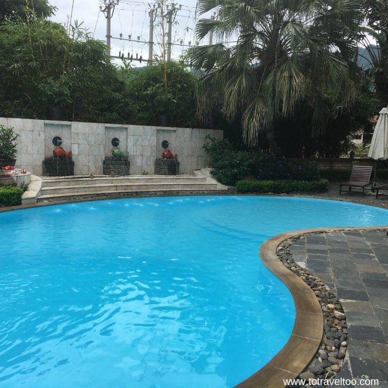 Swimming Pool at Mai Chau Lodge for our Guide to Mai Chau Vietnam