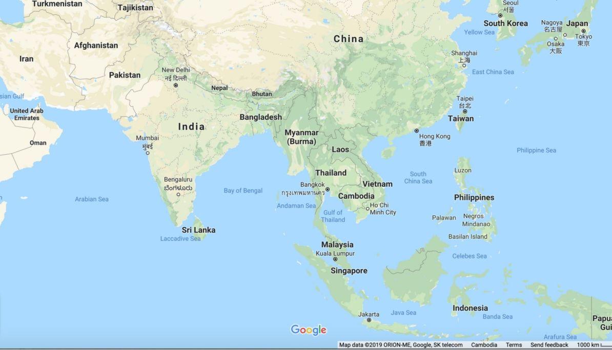 Exploring Asia - Map