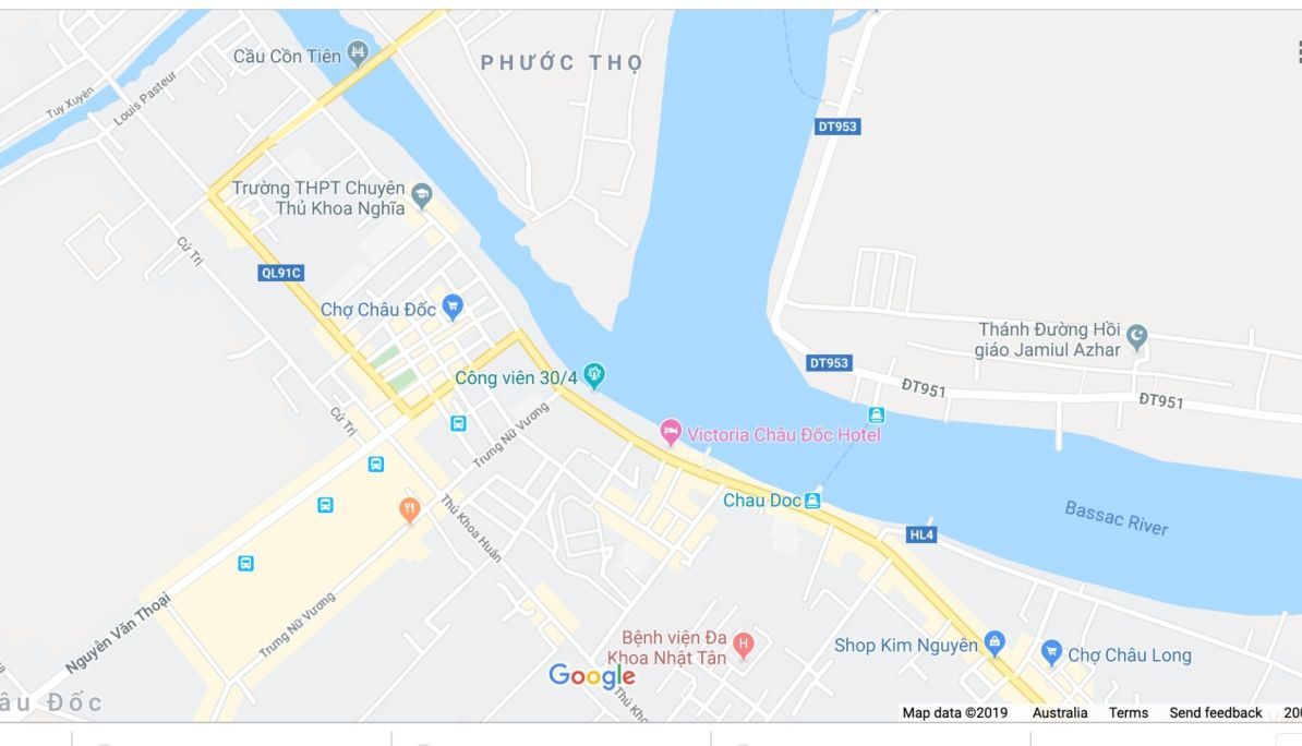 Chau Doc Map