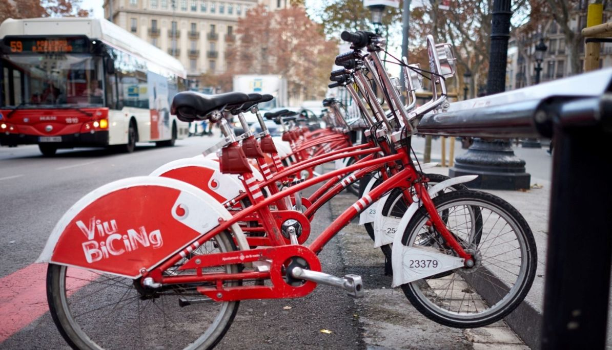 Bicycles in Barcelona are easy to hire