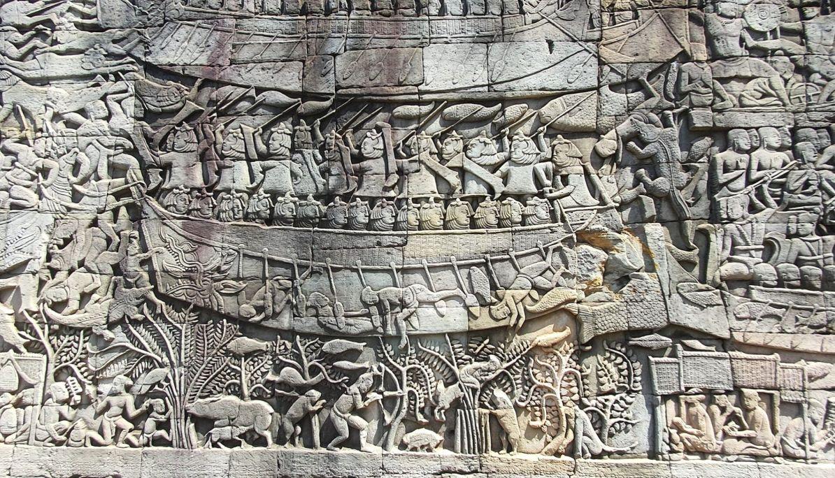 Bas reliefs Bayon Temple