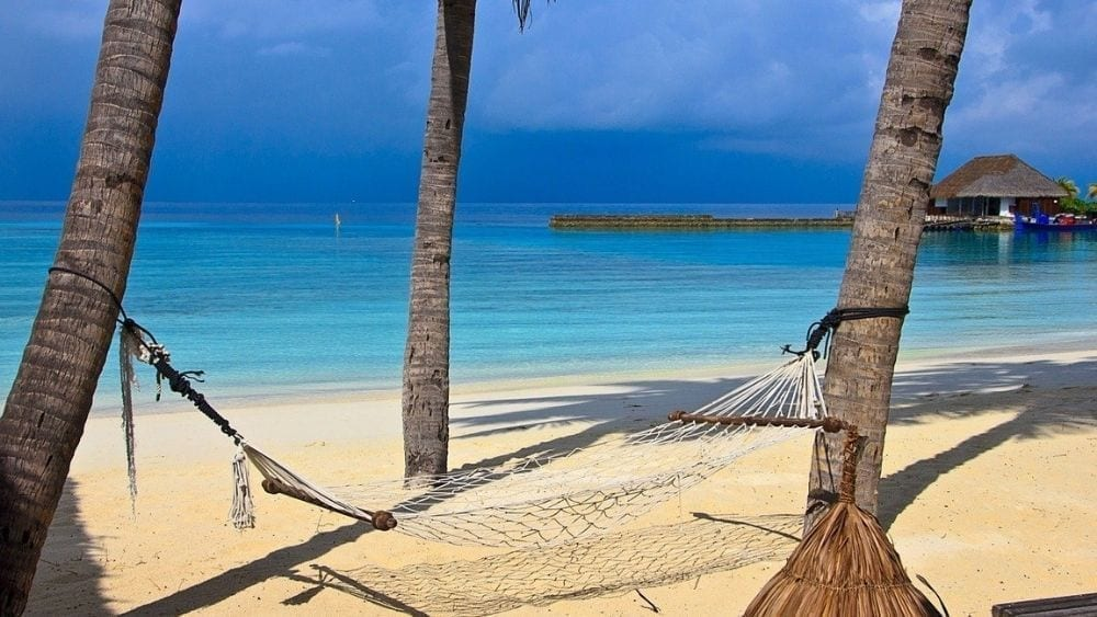 Beach in the Maldives for your next workcation