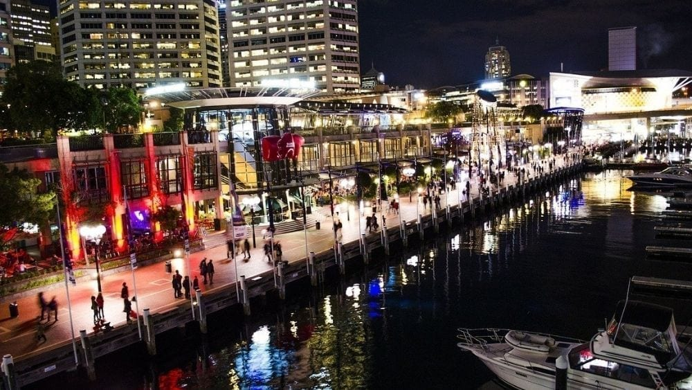 Darling Harbour at the end of your work day