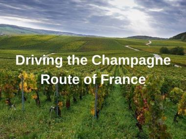 Driving the champagne route of France