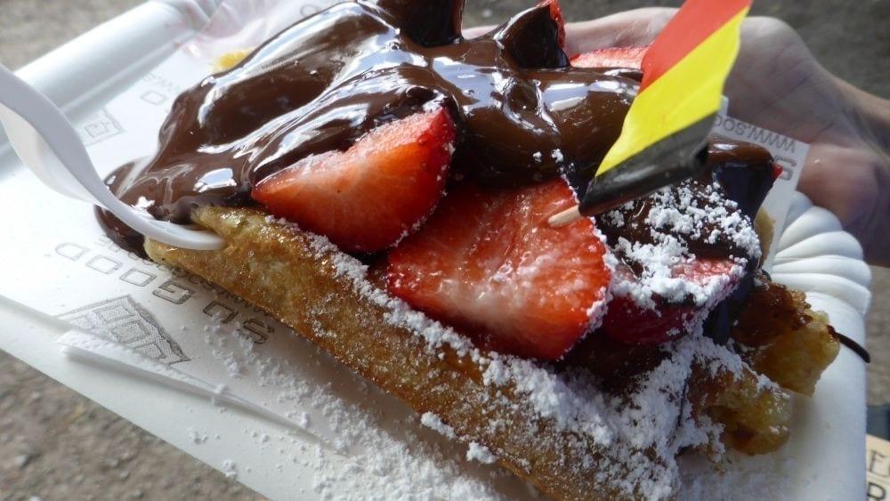 Best waffles in Bruges