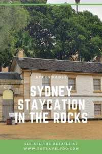 Pinterest - Sydney Staycation at the Rocks