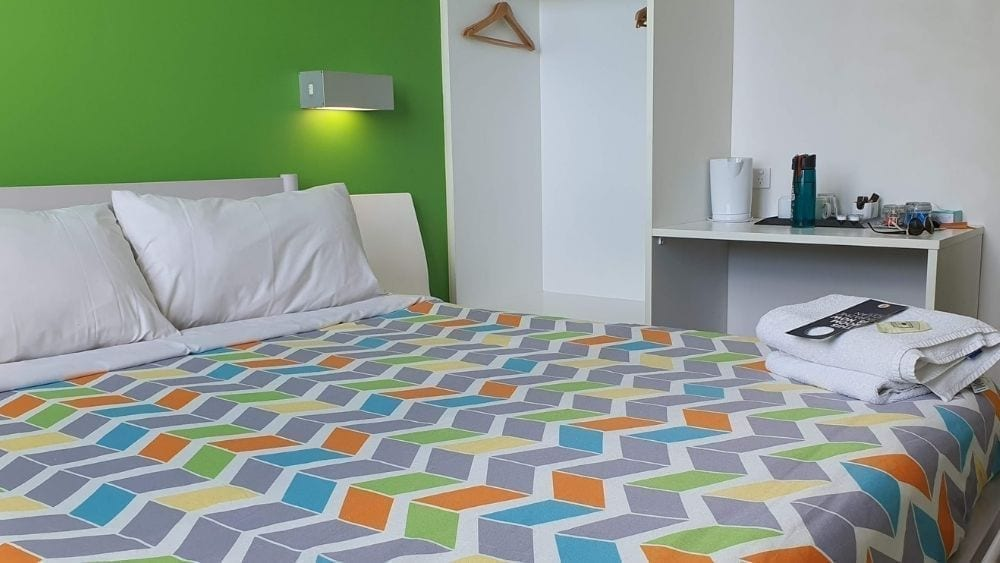 Double room with ensuite at the Sydney Harbour YHA