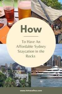 Pinterest Sydney Staycation at the Rocks