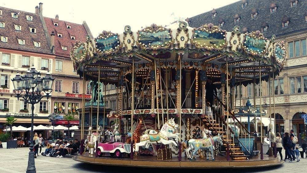 Gutenberg Square at it's merry-go-round