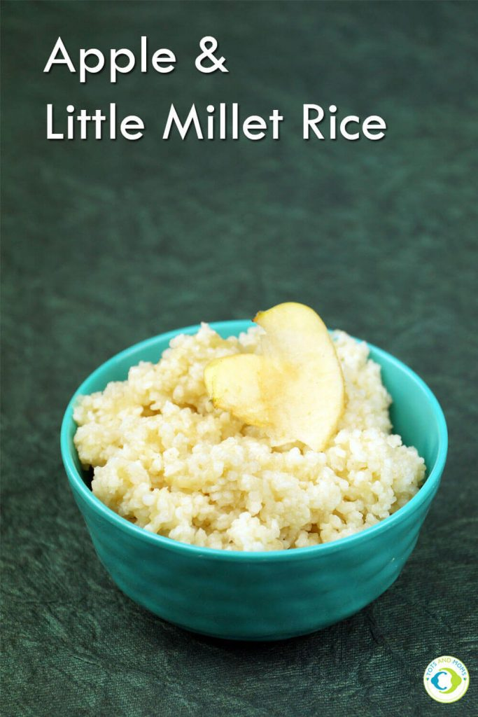 APPLE & LITTLE MILLET RICE KHEER for Babies, Toddlers, Kids & Family How to make millet recipes for babies