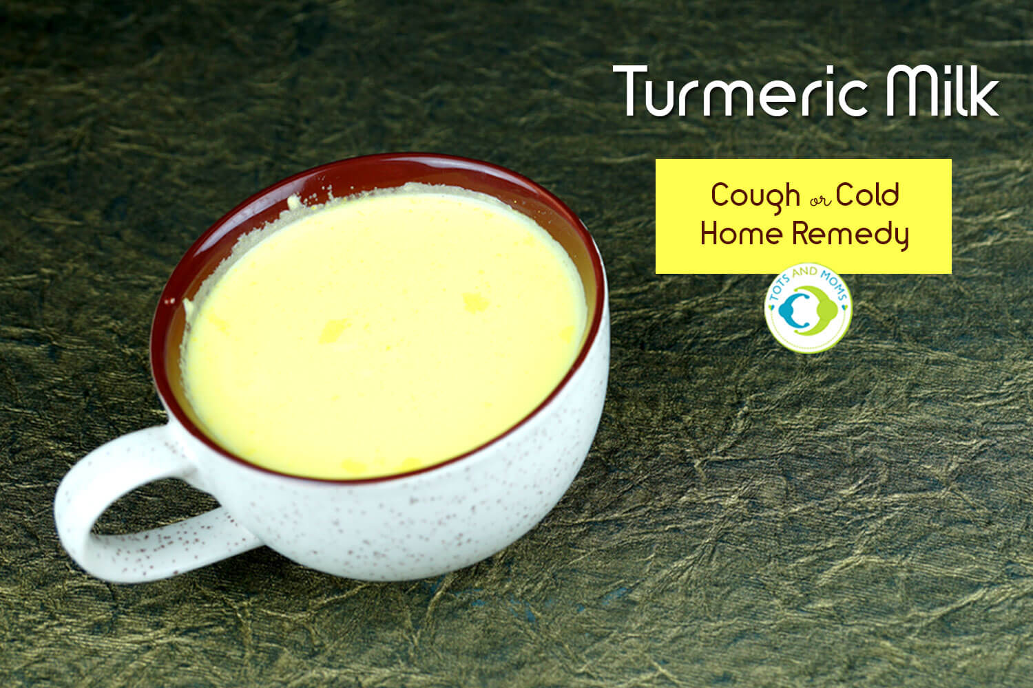TURMERIC MILK - COUGH & COLD HOME REMEDY for Toddlers, Kids & Family home made healthy energy drink