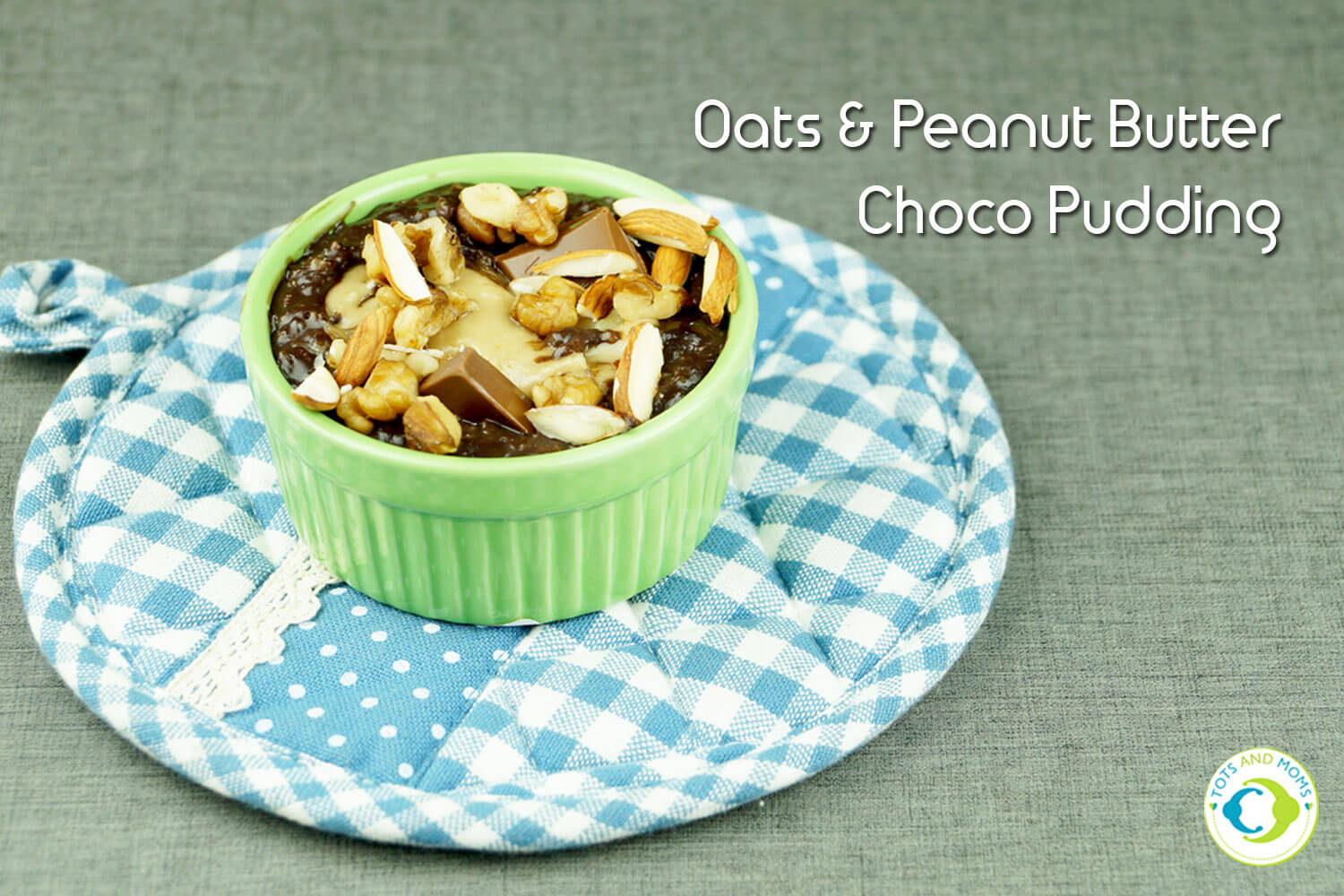 Oats & Peanut Butter Chocolate Pudding Instant Dessert for kids