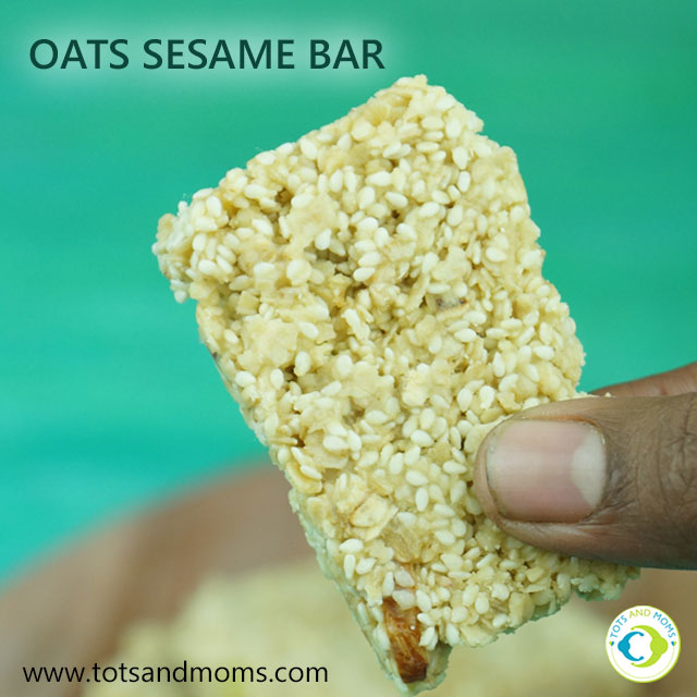 Oats Sesame Bar for Toddlers, Kids till ke chikki hindi kannada