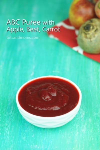 Apple Beetroot Carrot Puree | ABC Puree for Babies kannada hindi 6 months stage 1 baby food