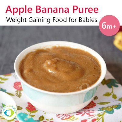 Apple Banana Puree for Babies and Toddlers Can I give my baby Apple Can I give my baby Banana When can I give my baby Apple When can I give my baby Banana Puree for Babies Homemade Purees for Babies Starting Solids for Babies and Toddlers Purees for Babies 6 months baby food chart baby puree recipes