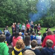 Leading Camp Fire Singing