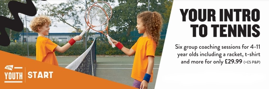LTA Youth Start - introduction to tennis for children aged 4-11