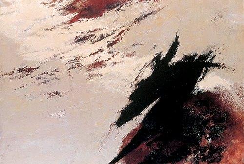 Tomie Ohtake, Sem título. Óleo sobre tela, 74,7 x 100 cm