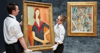 Jeanne Hébuterne (au foulard) de Amedeo Modigliani e Femme assise, de Pablo Picasso, na Sotheby's