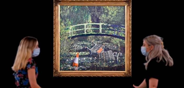 Tributo de Banksy a Monet vai a leilão e pode alcançar £5 milhões