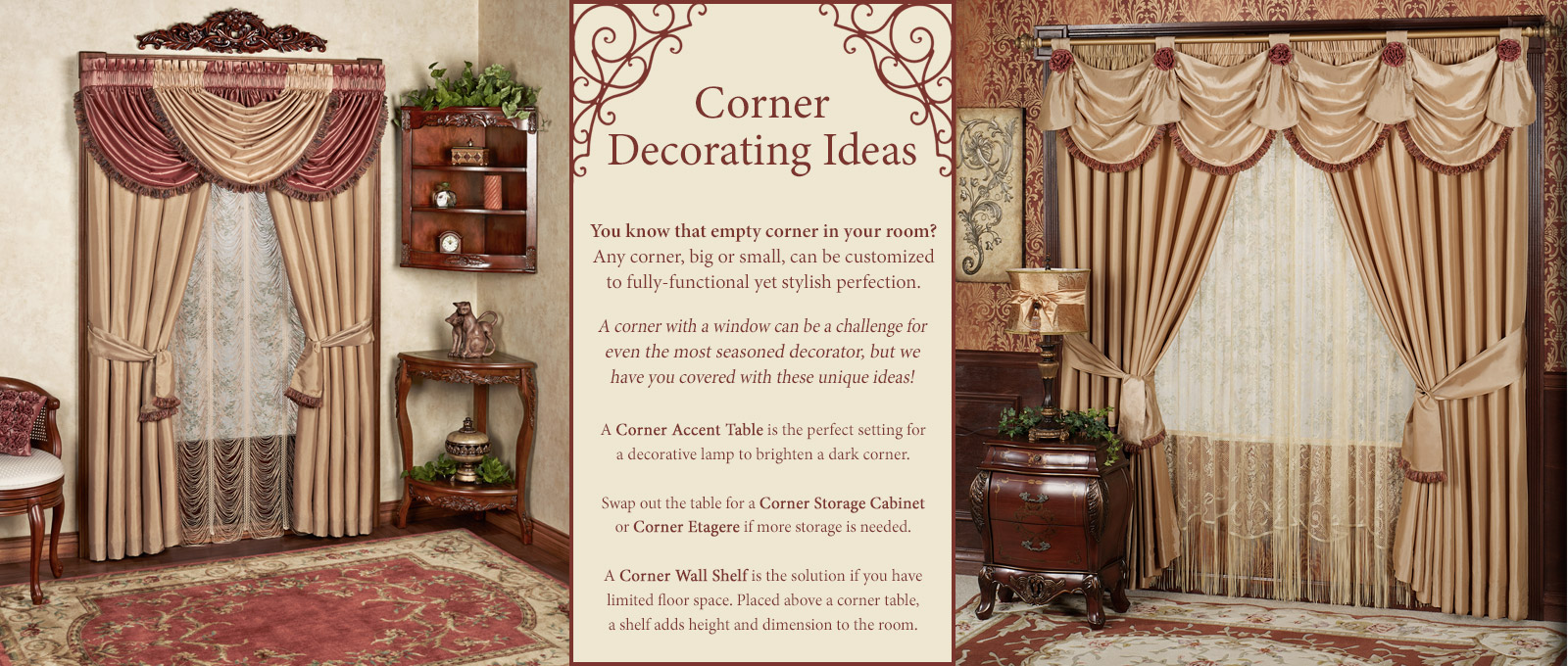 Corner Decorating Ideas Touch Of Class