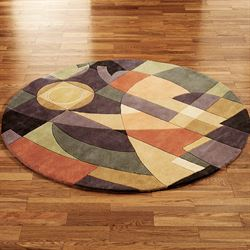 Clearance Home Decor   Touch of Class Pastel Visions Abstract Round Rug