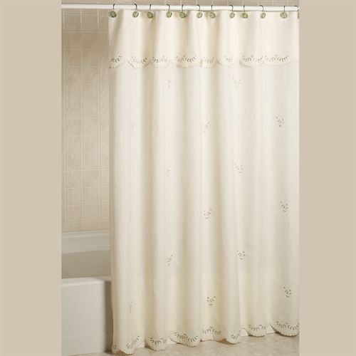 forget me not embroidered shower curtain