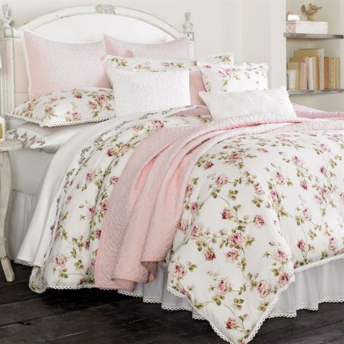 Rosalie Pink Floral Comforter Bedding By Piper Amp Wright