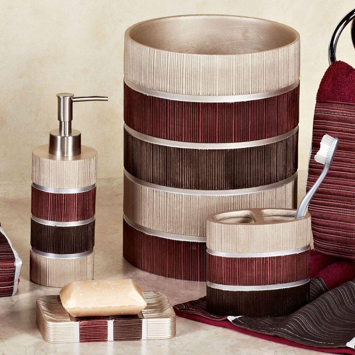 Burgundy Bath Accessory Sets | Tyres2c