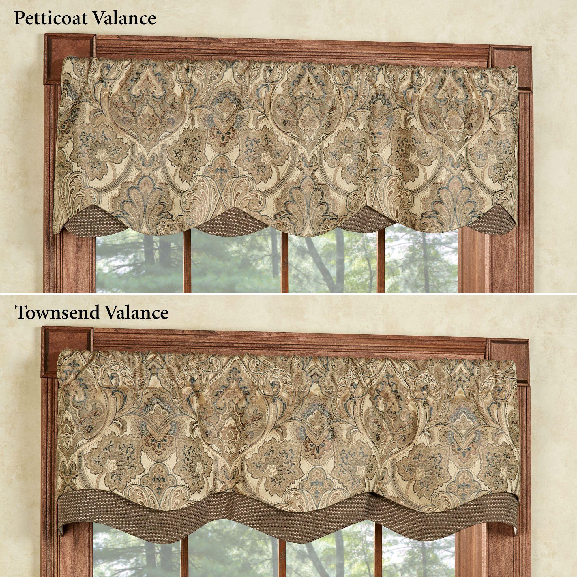 Hollyhock Gold Layered Window Valance